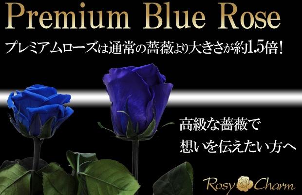 大輪の青い薔薇 プリザーブドフラワー