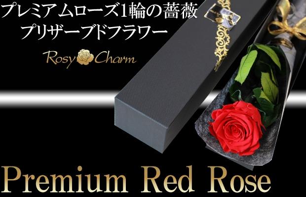 赤い薔薇 1本 プリザーブドフラワー