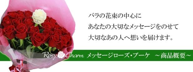 薔薇の花束|メッセージローズ・ブーケ 商品概要