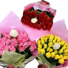 薔薇にメッセージ入れ出来る花束