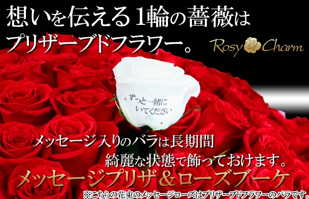 プロポーズ 108本のバラの花束