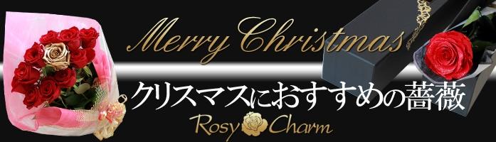 クリスマス 薔薇のフラワーギフト