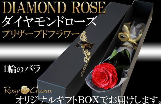 ダイヤモンドローズ 赤いバラ