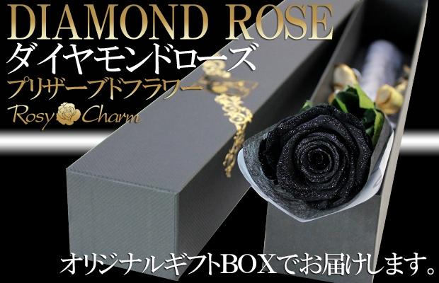 ダイヤモンドローズ 黒色の薔薇