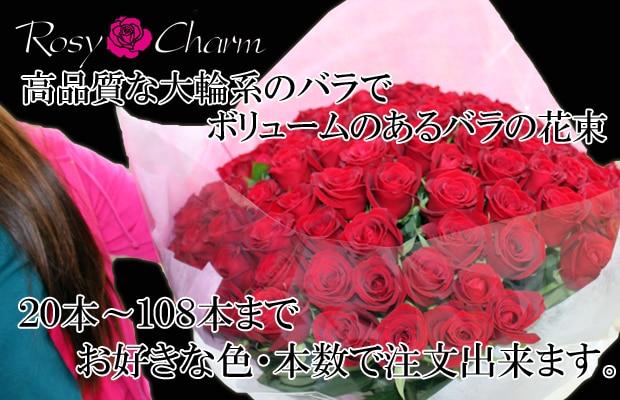 バラの花束 20本〜108本 本数選択