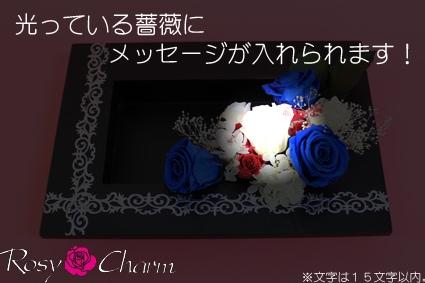 バラにメッセージ