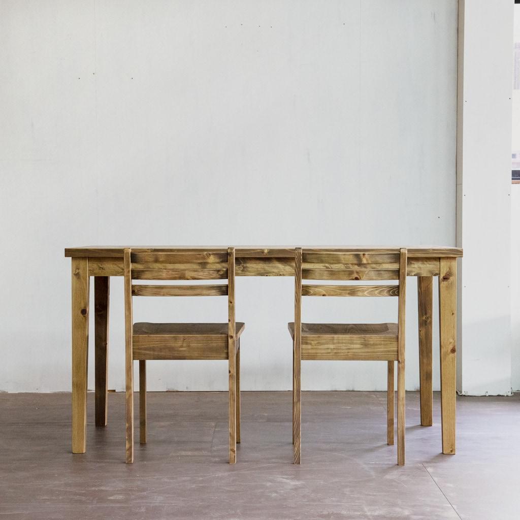 ゲイトマウスダイニングテーブル+チェア