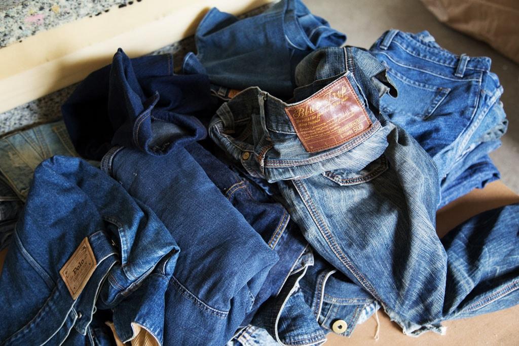 古着のジーンズ