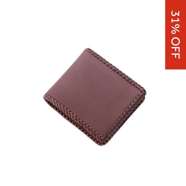 ショートウォレット/革財布 ブラウン サドルレザー