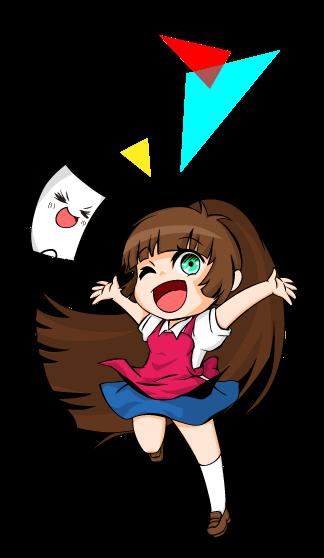 彩ingマスコットキャラ、てんちょーとサイコちゃん! 「今年もアニメジャパンに出展致します!」