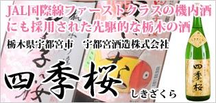 JAL国際線ファーストクラスの機内酒にも採用された先駆的な栃木の酒「四季桜(しきざくら)」