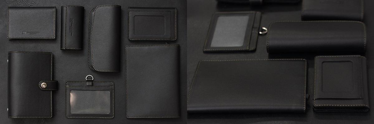 ちょっとした革小物でも、落ち着いた雰囲気を感じさせてくれます。お財布やバッグと合わせて黒レザーでコーディネートしてもお洒落になります。