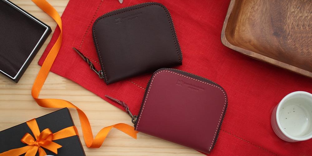 札幌革職人館 ラウンドファスナー財布