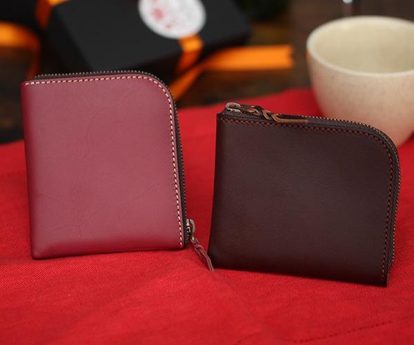札幌革職人館 L型ファスナー財布