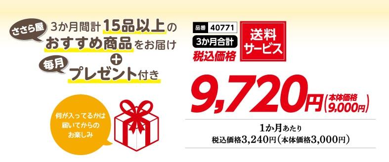 送料サービス9,720円