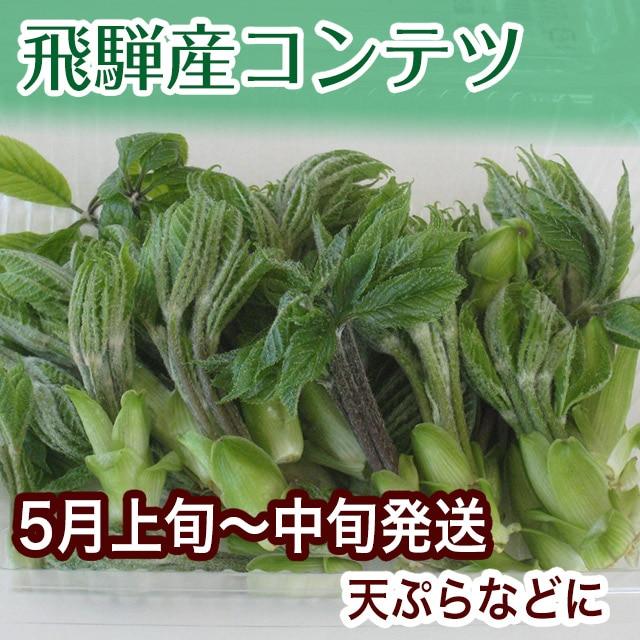 飛騨産こんてつ こしあぶら 天ぷらや和え物に 柔らかく美しい緑いろ