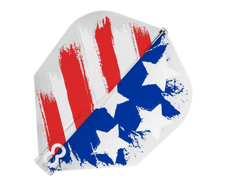 DARTS FLIGHT【8FLIGHT CLEAR】USA FLAG Shape
