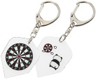 DARTS ACCESSORIES【S4】Flight Type Key Ring DartsBoard