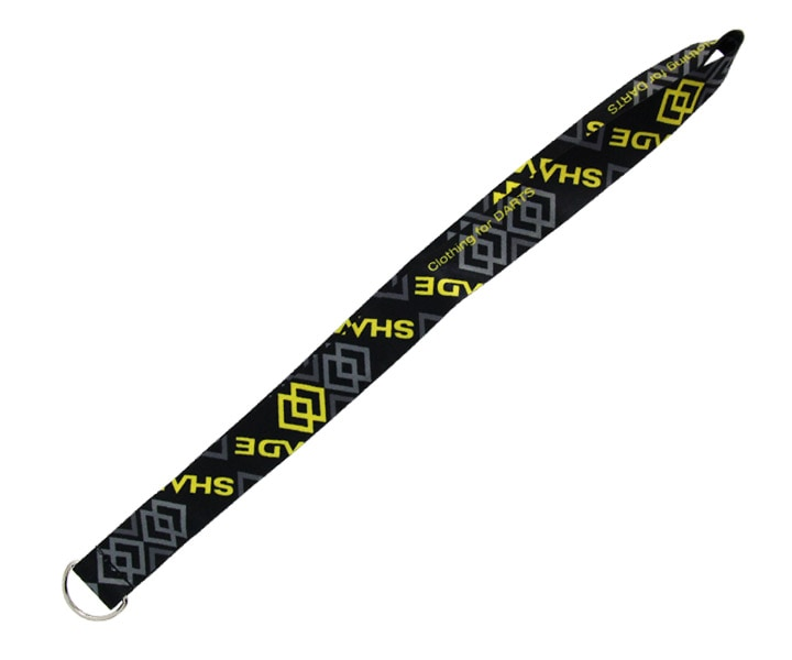DARTS CASE【SHADE】Neck strap DartsCase StrapParts Black x Yellow