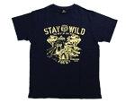 DARTS APPAREL【 SHADE 】STAY WILD T-Shirt 安食賢一 Model Navy XS