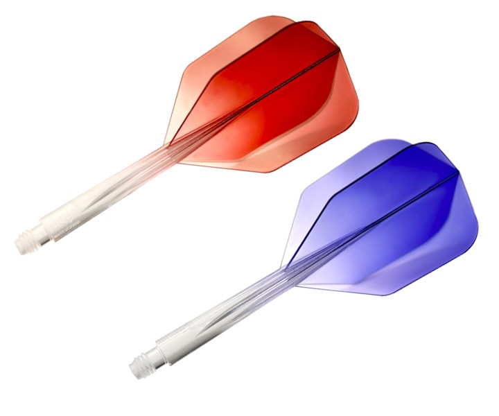 DARTS FLIGHT【CONDOR】AXE Gradation Series Small Short ClearRed