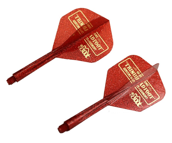 DARTS FLIGHT【CONDOR】TRiNiDAD x Foot Standard Short Lame Glitter Red
