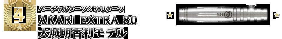 [4位]【バーチャルダーツ×RYUダーツ「AKARI EXTRA 80 大城明香利モデル」】