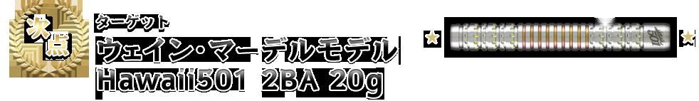 [次点]【ターゲット「ウェイン・マーデルモデル Hawaii501 2BA 20g」】