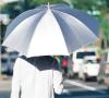 【日傘・晴雨兼用・長傘】【遮熱遮光(UVCUT99%)/シルバーコーティング無地】銀行員の日傘60cm(親骨60cm) ブランド:Waterfront(ウォーターフロント) 夏の酷暑対策に日傘を一本備える