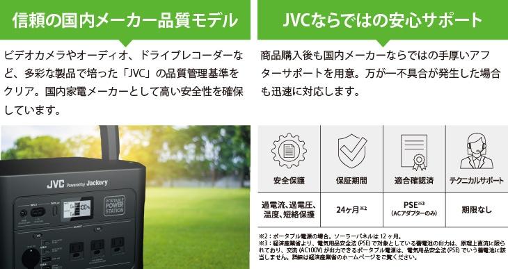 信頼の国内メーカー品質モデル/JVCならではの安心サポート