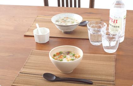 洋風とり雑炊、洋風えび雑炊