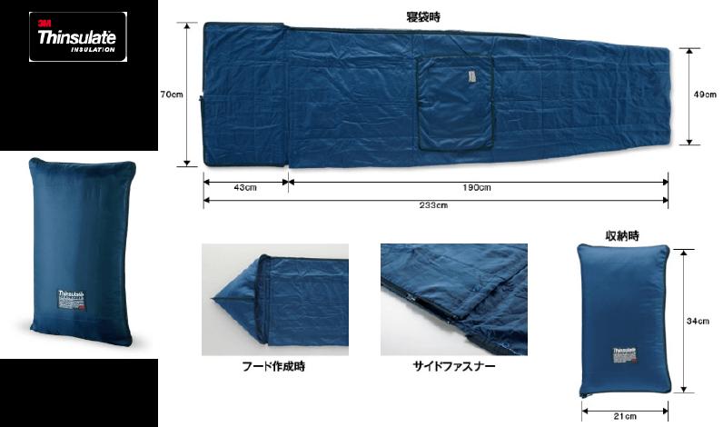 災害用毛布より暖かく、A4サイズに収納!