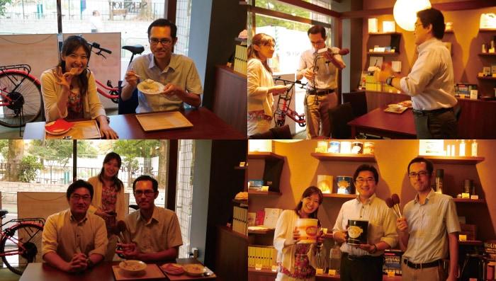 NHKラジオ第1放送「ごごラジ!」でNHKアナウンサーの藤井まどかさん、柴田拓さんに来店いただきました。(中継・生放送)