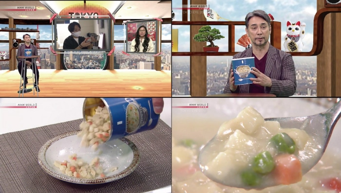 NHKワールドTV「TOKYO EYE(トーキョー・アイ)2020」で25年備蓄食サバイバルフーズ・チキンシチューが紹介されました