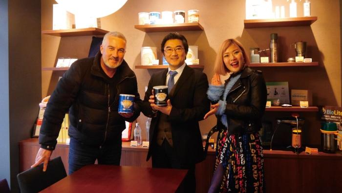 イギリスの有名シェフのポール・ハリウッド(Paul Hollywood)さんと海外で活躍されている日本人女優のキララさんに来店頂きました。