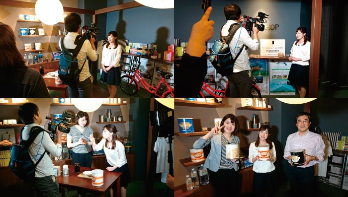 テレビ山梨「ニュースの星」セイショップより中継いただきました。リポーター:西村唯さん