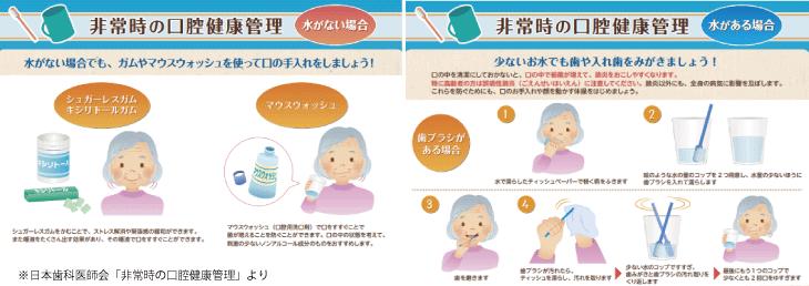 日本歯科医師会「非常時の口腔健康管理」パンフレット