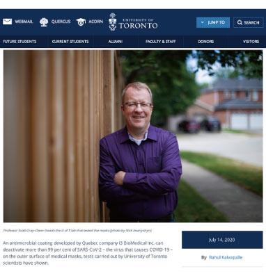 トロント大学のリリースページ:写真はスコット・グレイオーウェン教授