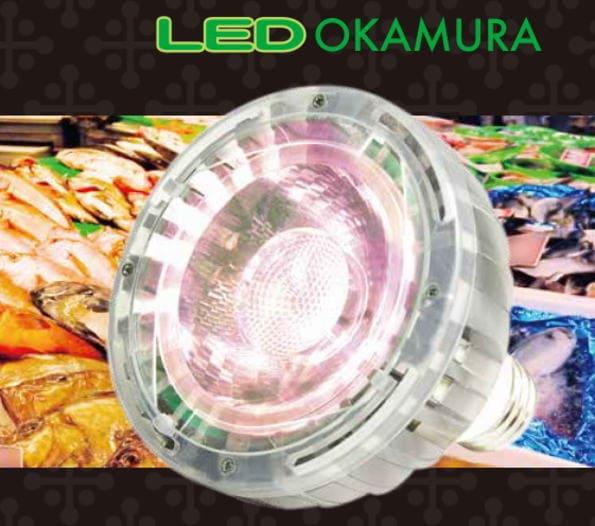 岡村電産(OKAMURA)☆エコ之助 BIG 食品専用LED☆LDR15L-M エコ之助BIG15W 食品用LEDランプ
