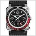ベル&ロス BR0393-BL-ST/SCA  BR 03-93 GMT (ブラック&レッド)