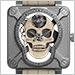 ベル&ロス BR01-SKULL-0-SK-ST  BR 01 ラフィングスカル ホワイト 世界限定99本