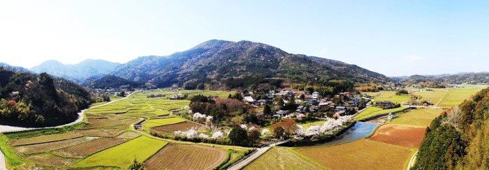 中世 田染小崎地区の景色