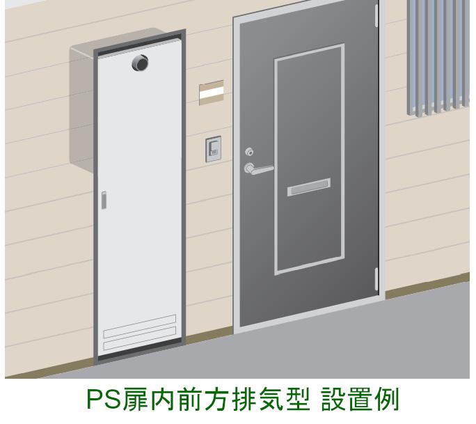 PS扉内前方排気型