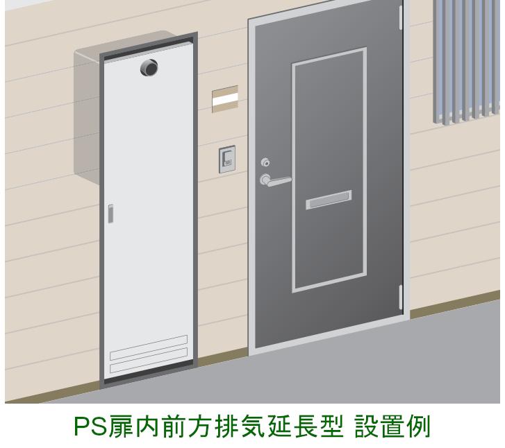 PS扉内前方排気延長型