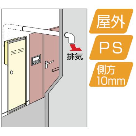 PS扉内後方排気型