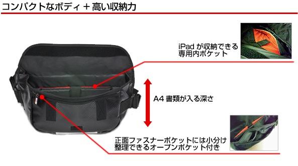 SEVメッセンジャーバッグはコンパクトなボディ+高い収納力