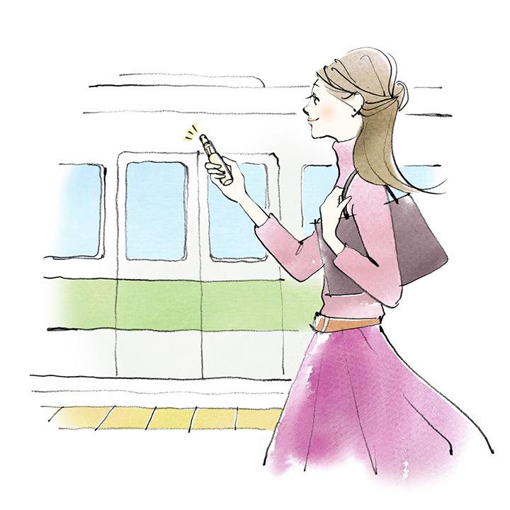 電車に乗る前や乗車中