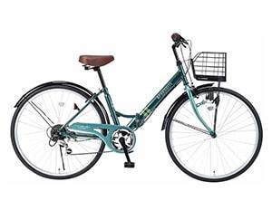 折畳自転車 シティサイクル 26インチ グリーン M-507(GR)
