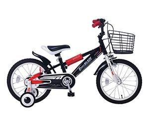 子供用自転車 16インチ 補助輪付き ブラック MD-10(BK)