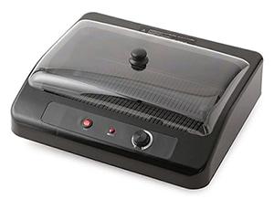 アイテック スモークレス グリルプレート 卓上無煙グリル ブラック AQS-1051